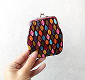 Peňaženky - Peňaženka Lístky na hnedej - M - 10174514_