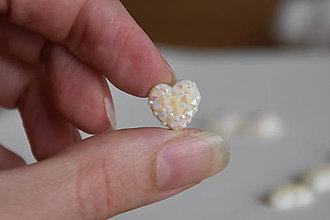 Komponenty - Kabošon druzy srdce AB 12mm, 0.15€/ks - 10176114_