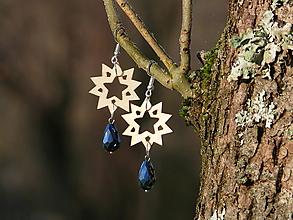 Náušnice - Wooden edition - Hviezdy - 10175762_