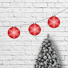 Dekorácie - Girlanda vianočné gule karmínové - 10177135_