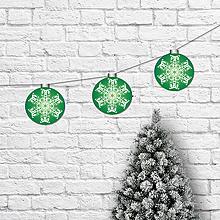 Dekorácie - Girlanda vianočné gule smaragdová - 10177139_
