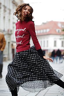 Sukne - Tylová sukňa strieborná bodka - 10180652_