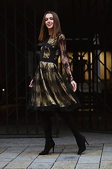 Šaty - Šaty zlatočipková dáma - 10180697_