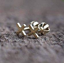 Náušnice - xxx gold - 10182158_