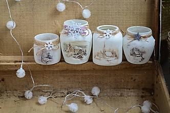 Svietidlá a sviečky - Vianočné svietničky (väčší s vločkou) - 10180274_