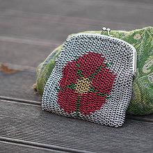 Taštičky - Kroužkovaná kabelka - rožmberská růže - 10181752_