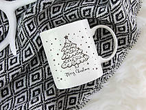 Nádoby - Hrnček Merry Christmas simply black - 10181869_