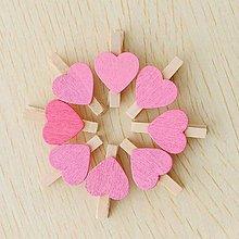 Pomôcky/Nástroje - drevený štipček - farba ružová - 10179566_