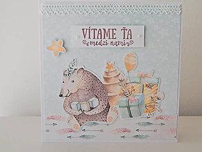 Papiernictvo - Pohľadnica k narodeniu bábätka - Medveď - 10182973_