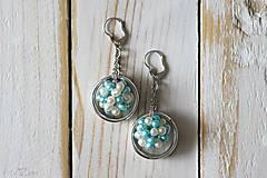 Náušnice - Strieborné náušnice s perlami - Spring Pearls - 10179404_