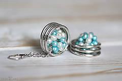 Náušnice - Strieborné náušnice s perlami - Spring Pearls - 10179405_