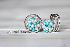 Náušnice - Strieborné náušnice s perlami - Spring Pearls - 10179410_