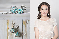 Náušnice - Strieborné náušnice s perlami - Spring Pearls - 10179412_