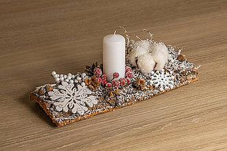 Dekorácie - Vianočná ikebana I. - 10180755_