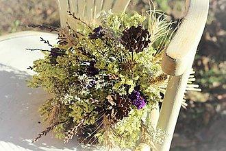 Dekorácie - Prírodná strapatá kytica - 10179503_
