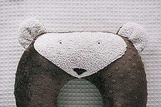Úžitkový textil - poduška do auta macko - 10182510_