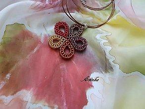Šály - SET : hodvábny šál+šperk - 10179128_