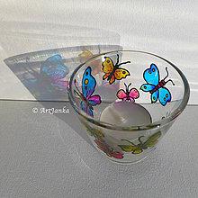 Svietidlá a sviečky - Motýlikový svietnik 2 - 10181333_
