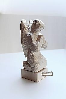 Socha - Anjel - drevená soška - 10181245_