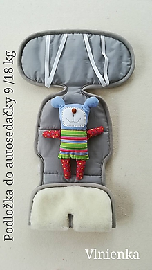Textil - VLNIENKA Podložka do autosedačky 9-18 kg 100% Merino proti poteniu a prechladnutiu GREY šedá - 10182299_