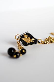Náhrdelníky - Náhrdelník Čierny kosoštvorec (2530 A CHO) - 10180126_