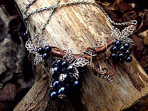 Náhrdelníky - náhrdelník - vinná réva - 10181129_