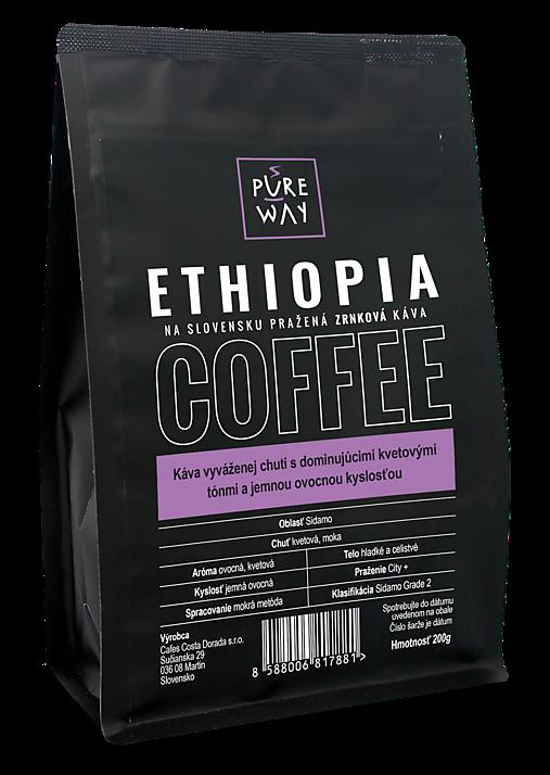 Zrnková Ethiopia káva Pure Way, 200 g