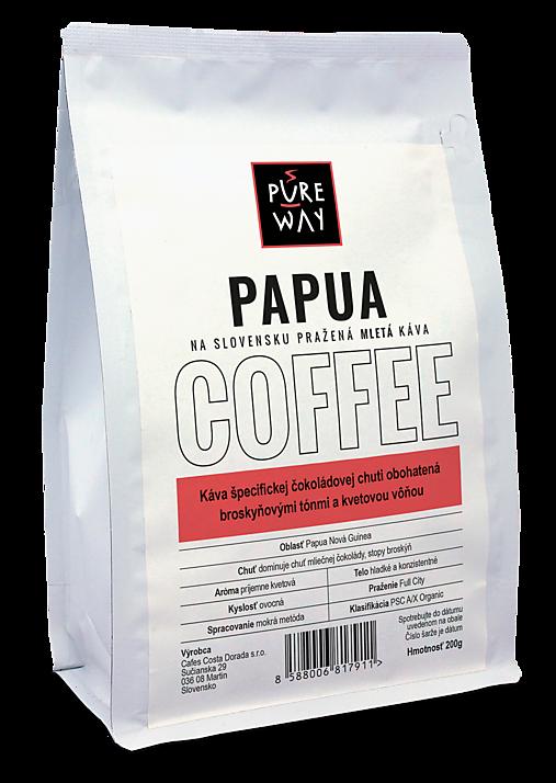 Mletá Papua káva Pure Way, 200 g