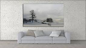 Obrazy - ZIMNÁ KRAJINA fotoplátno 60x40cm (B s dymovým nádychom) - 10182339_