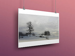 Obrazy - ZIMNÁ KRAJINA fotoplátno 60x40cm (D 260g papier A3) - 10182345_