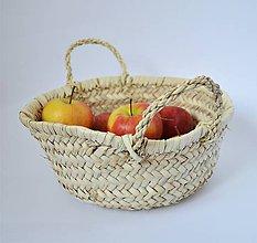 Košíky - Pletený palmový kôšík - 10179237_