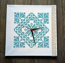 Hodiny - Vyšívané hodiny