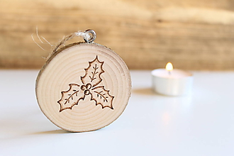 """Dekorácie - Malá drevená vianočná ozdoba """"Cezmína"""" - 10181819_"""