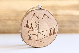 Dekorácie - Drevená vianočná ozdoba