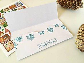 Papiernictvo - Zlatá vianočná obálka na peniaze - 10180984_
