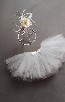 Detské oblečenie - Set TUTU sukna - odtien 048 Silver Grey - 10179256_