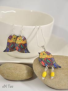 Sady šperkov - Vtáčiky - sada - 10182854_