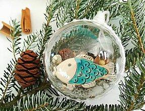Dekorácie - Vianočná guľa 1 ks kapor - 10180218_