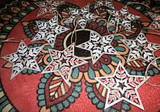 Dekorácie - Hviezdečky - sada 11 ks - 10181139_