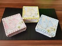 Krabičky - Dupačková krabička (Modrá) - 10180429_