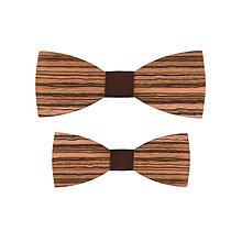 Doplnky - Motýliky Otec a Syn - Zebrano - 10181037_