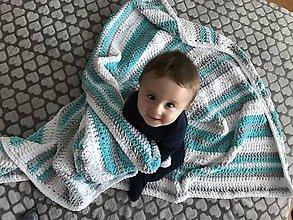 Textil - Detská deka Puffy - modrá - 10179072_