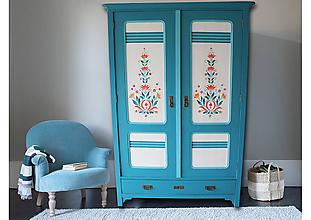 Nábytok - Maľovaný šatník - 10182531_