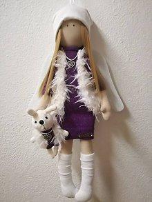 Bábiky - Anjelik na zavesenie fialovy - 10179415_