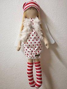 Bábiky - Anjelik s bodkovanými šatočkami - 10179421_
