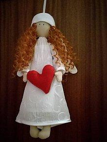 Bábiky - Anjelik so srdiečkom - 10179445_