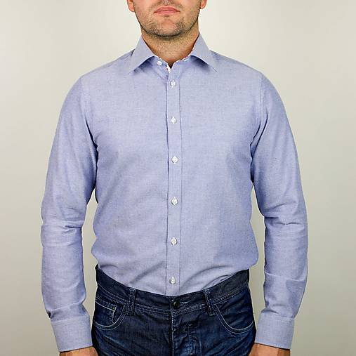 207609079098 Svetlomodrá slim fit košeľa   kosele-stevula - SAShE.sk - Handmade ...