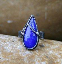 Prstene - Lapis lazuli prsteň - 10182208_