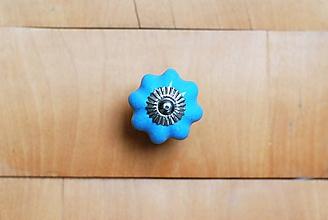 Komponenty - Nábytkové úchytky tekvička vintage jednofarebné (Modrá) - 10178817_