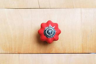 Komponenty - Nábytkové úchytky tekvička vintage jednofarebné (Červená) - 10178823_